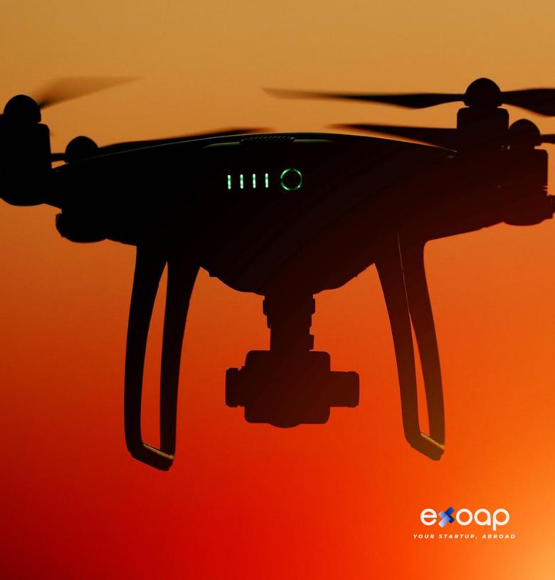 Vender software de drones en otro país