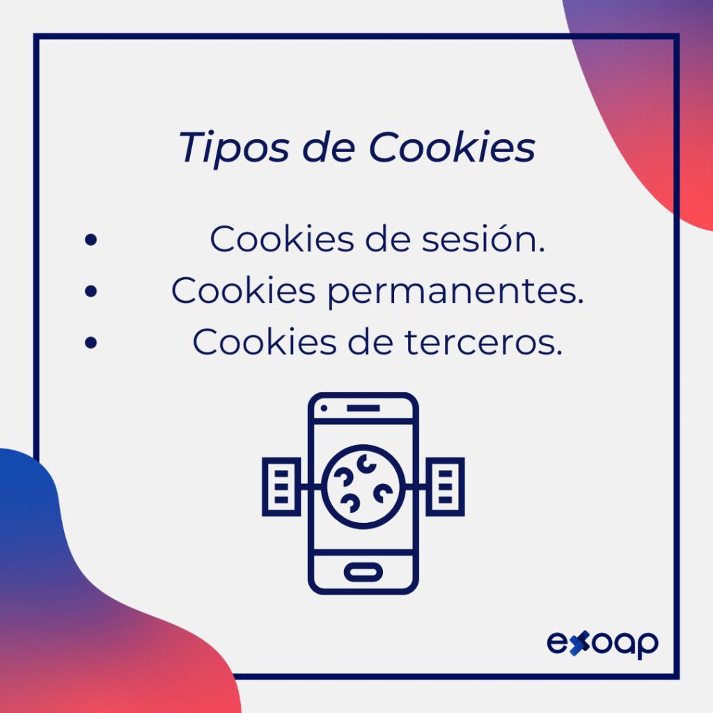 ¿Qué tipos de cookies hay?